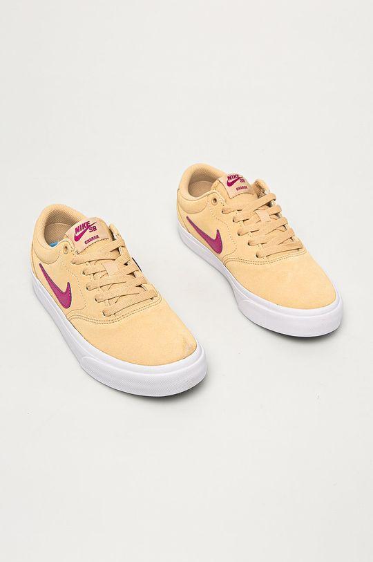 Nike Sportswear - Ghete de piele SB Charge Suede de grau