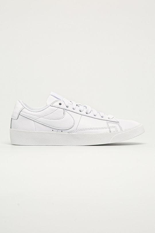 biały Nike Sportswear - Buty skórzane Blazer Low LE Damski