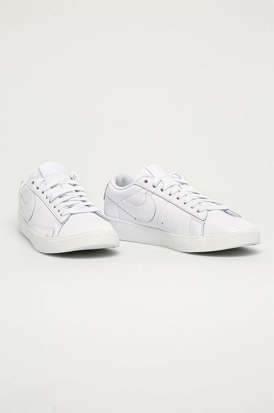 Nike Sportswear - Buty skórzane Blazer Low LE biały