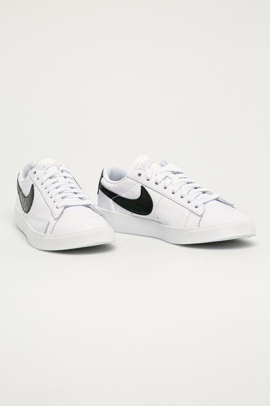 Nike Sportswear - Ghete de piele Blazer Low alb