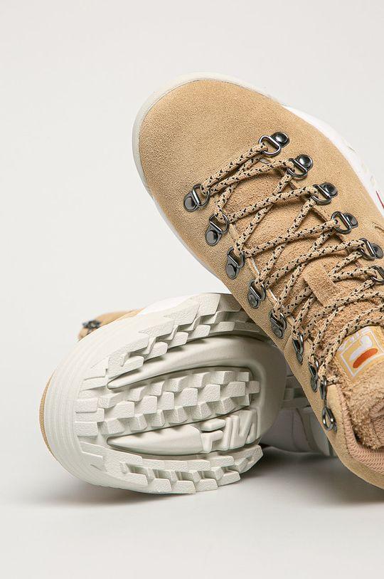pszeniczny Fila - Buty zamszowe Disruptor Hiking Boot