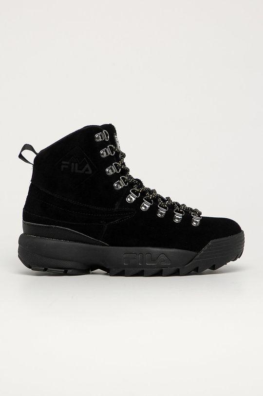 čierna Fila - Semišové topánky Disruptor Hiking Boot Dámsky