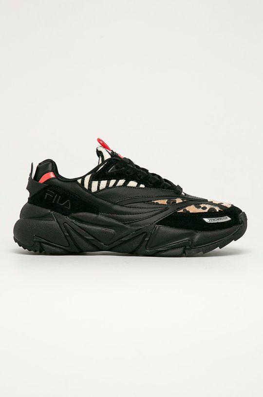 czarny Fila - Buty skórzane Venomrush Damski