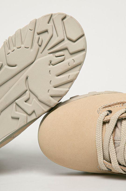 písková Fila - Kožené kotníkové boty
