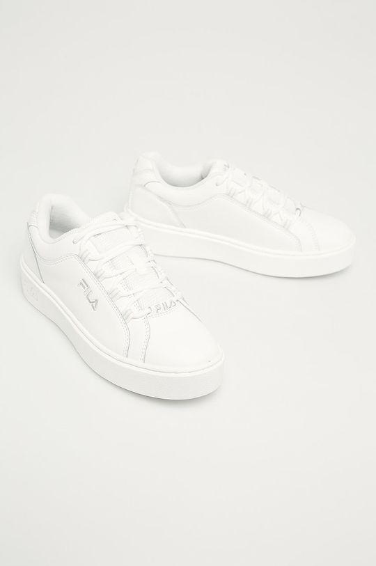 Fila - Kožená obuv Overstate x Aversario biela