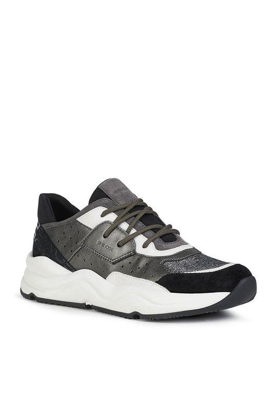 Geox - Kožená obuv čierna