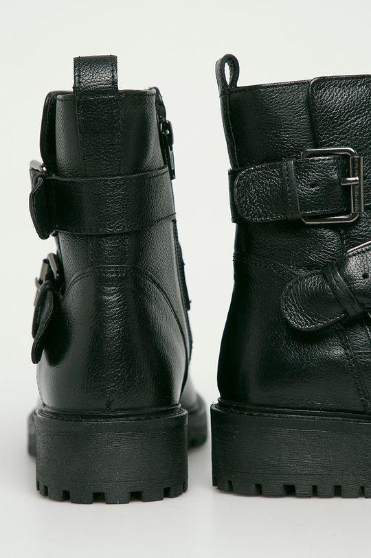 Geox - Kožené členkové topánky  Zvršok: Prírodná koža Vnútro: Syntetická látka, Textil Podrážka: Syntetická látka