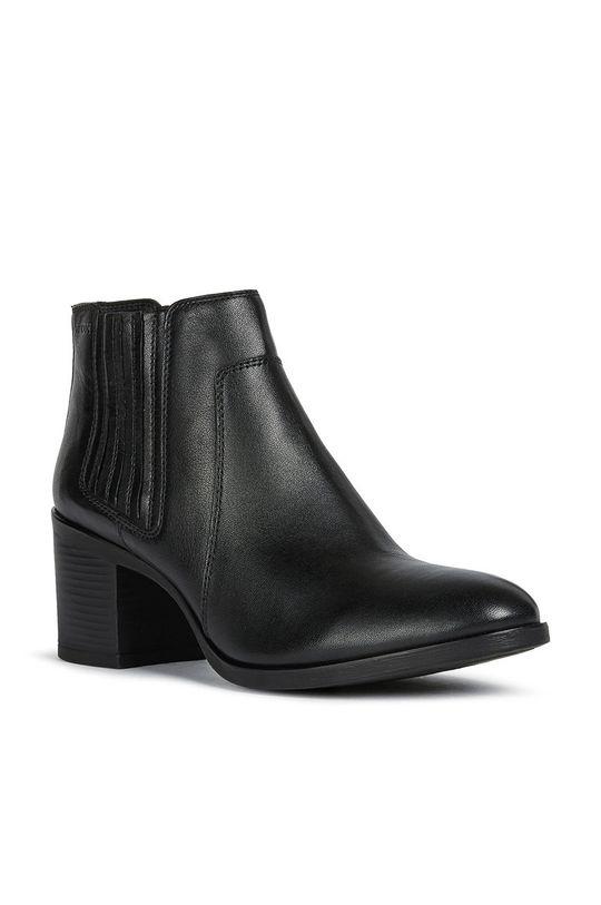 Geox - Semišové topánky čierna
