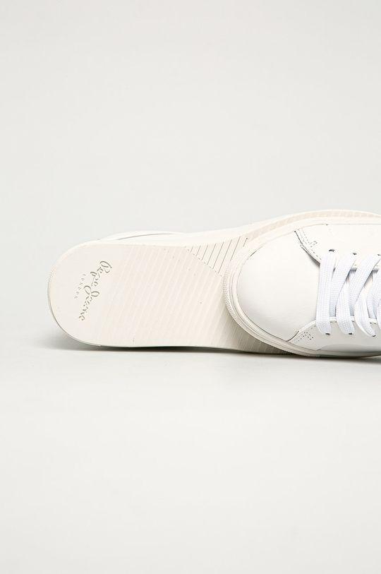 biela Pepe Jeans - Kožená obuv