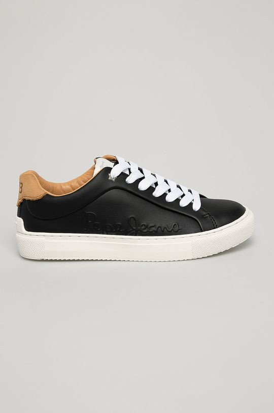 čierna Pepe Jeans - Kožená obuv Dámsky