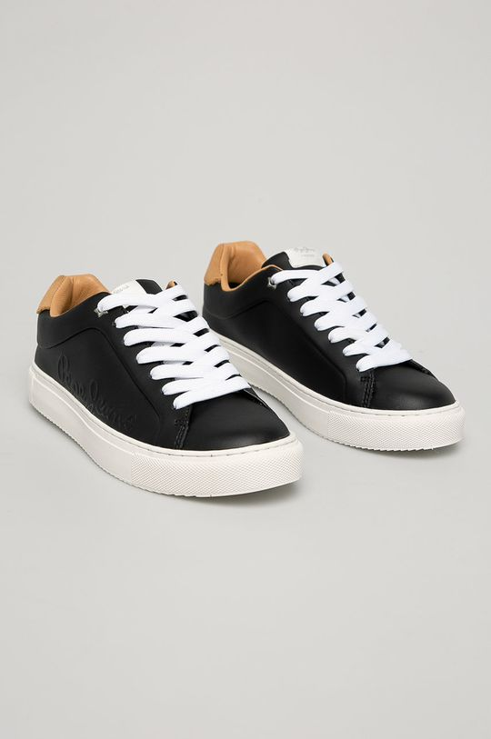 Pepe Jeans - Kožená obuv čierna