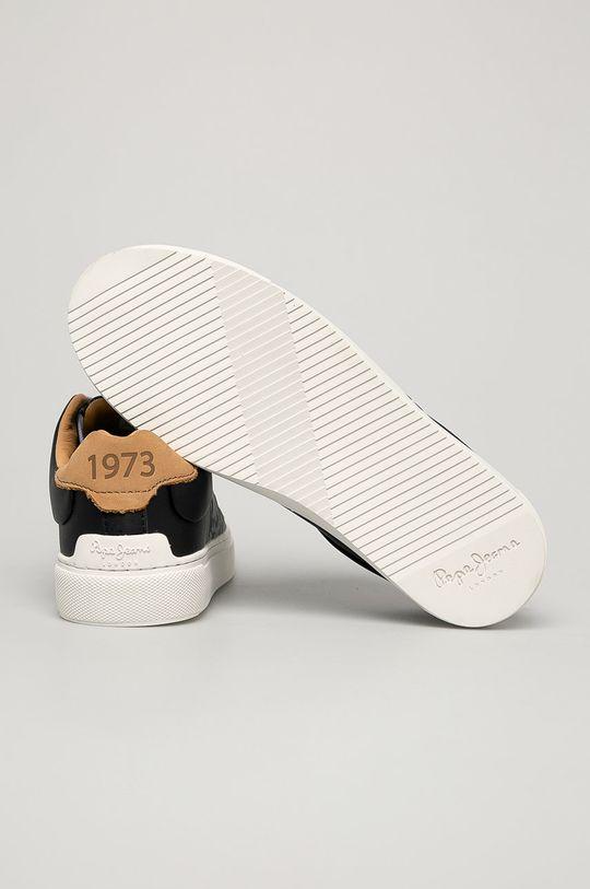 čierna Pepe Jeans - Kožená obuv
