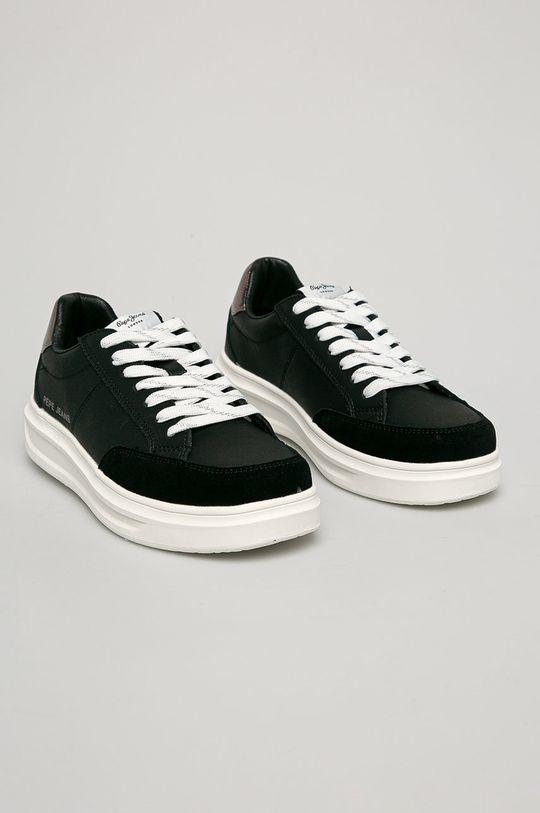 Pepe Jeans - Kožené boty Abbey Top černá