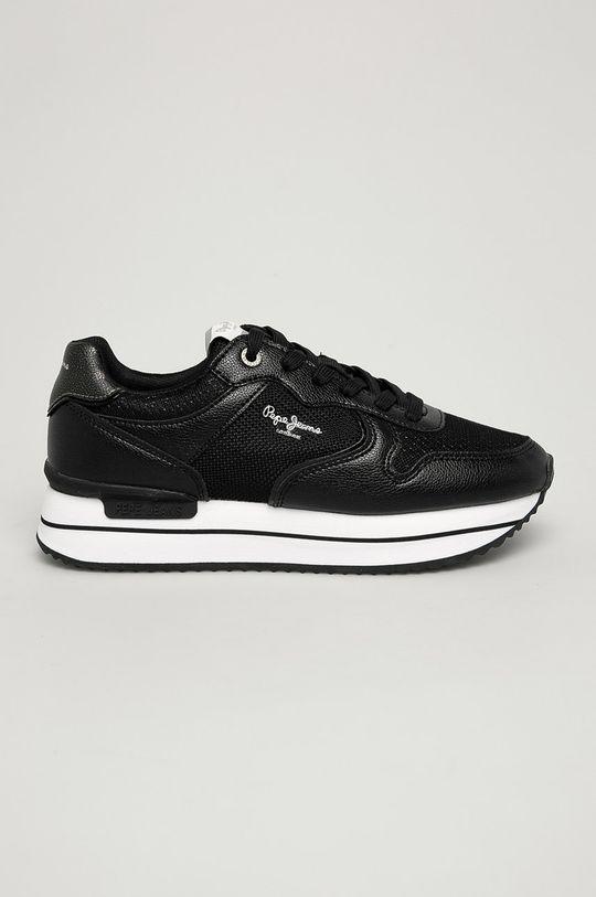 negru Pepe Jeans - Pantofi Rusper City De femei