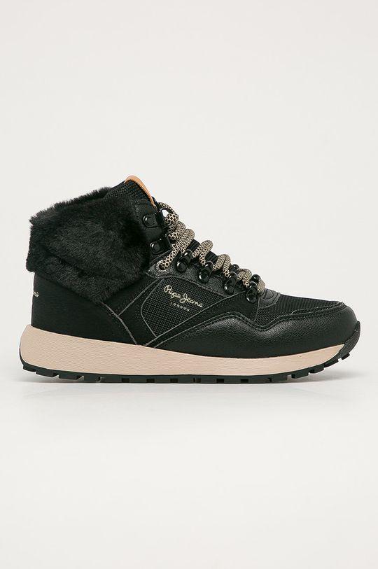 čierna Pepe Jeans - Topánky Dean City Dámsky