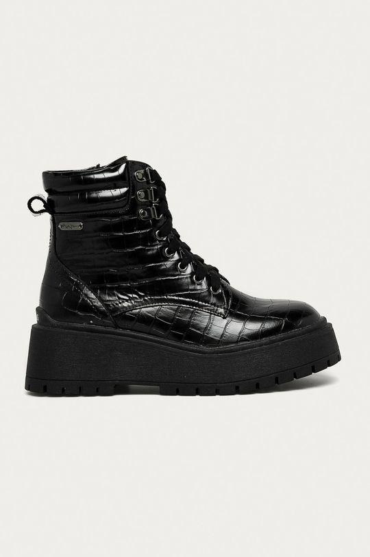 čierna Pepe Jeans - Workery Bobbing Croco Dámsky