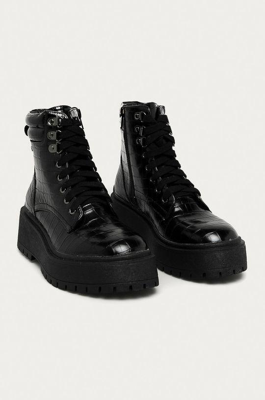 Pepe Jeans - Workery Bobbing Croco čierna