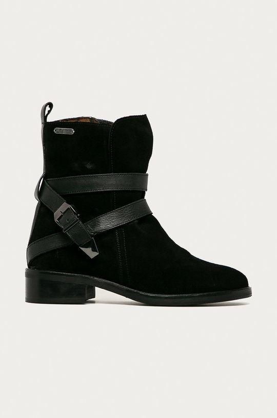 černá Pepe Jeans - Semišové boty Maldon Land Dámský