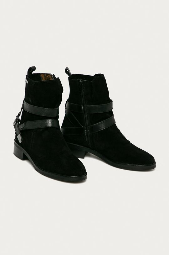 Pepe Jeans - Semišové boty Maldon Land černá