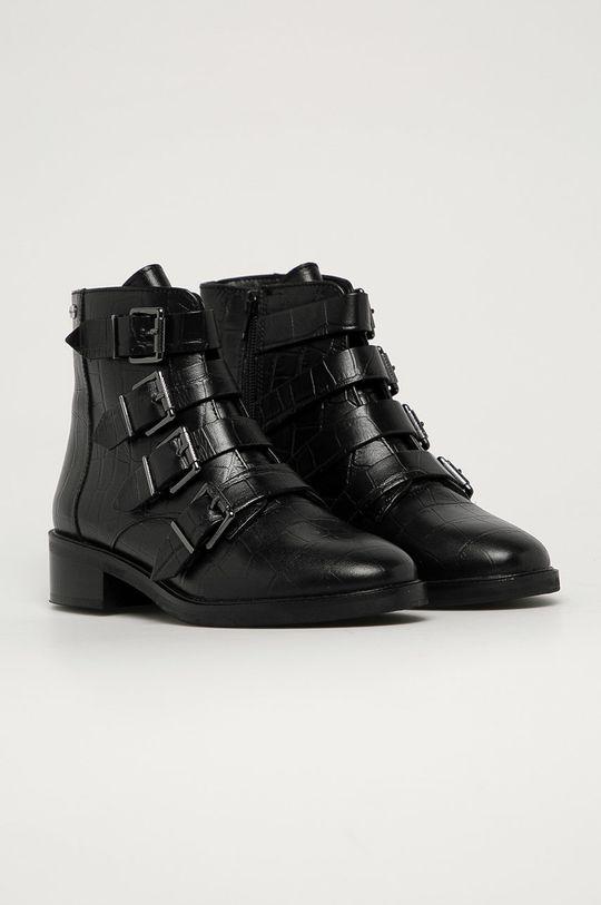 Pepe Jeans - Kožené kotníkové boty Maldon Iman černá