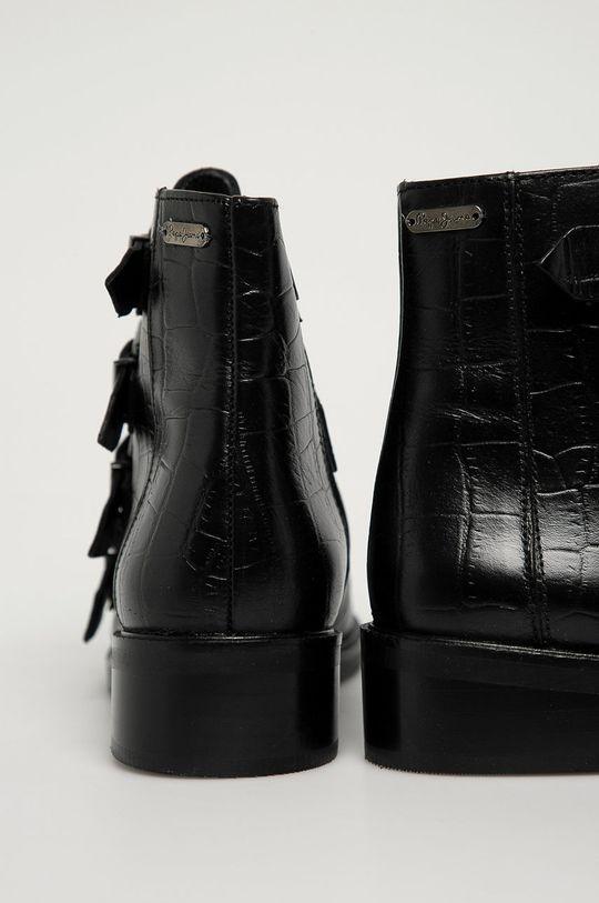 Pepe Jeans - Kožené kotníkové boty Maldon Iman  Svršek: Přírodní kůže Vnitřek: Textilní materiál, Přírodní kůže Podrážka: Umělá hmota