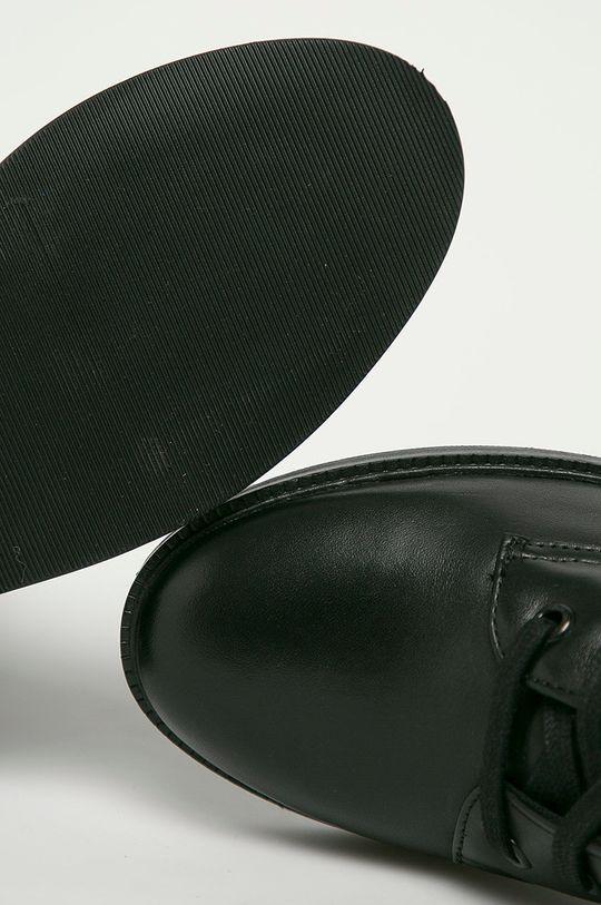 černá Pepe Jeans - Kožené farmářky Maldon Logo