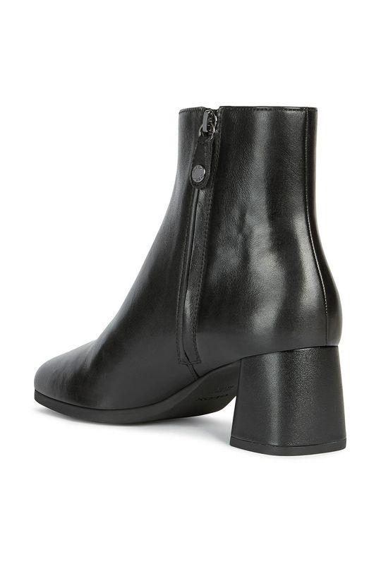 čierna Geox - Kožené členkové topánky