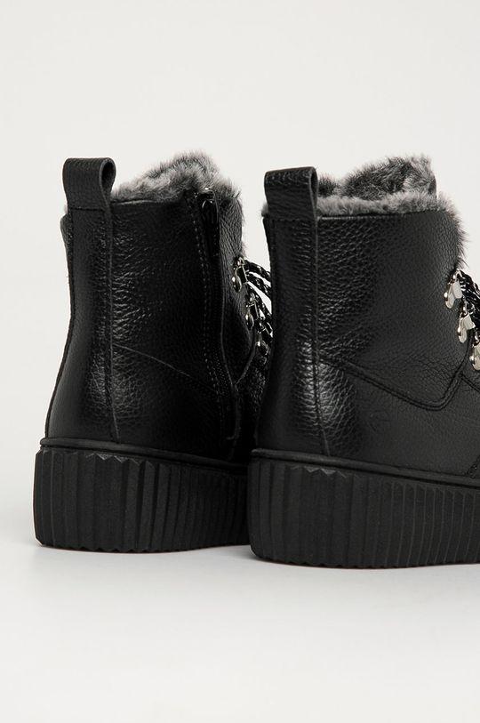 Tamaris - Kožené členkové topánky  Zvršok: Prírodná koža Vnútro: Textil Podrážka: Syntetická látka