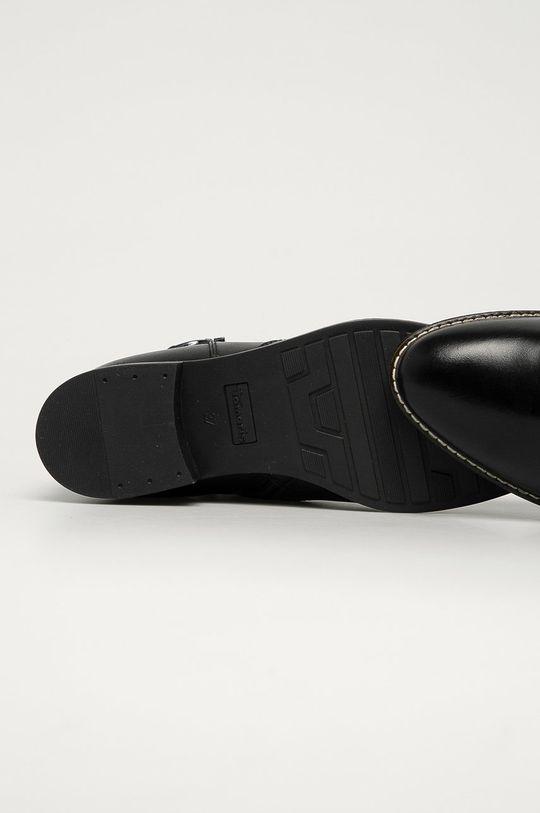 černá Tamaris - Kožené kotníkové boty