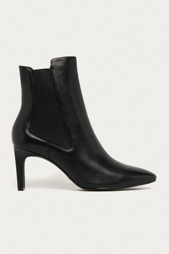 černá Tamaris - Kožené kotníkové boty Dámský