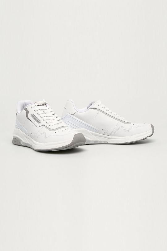 Tamaris - Kožené boty bílá
