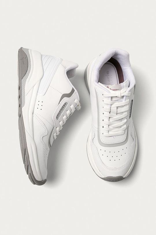 bílá Tamaris - Kožené boty