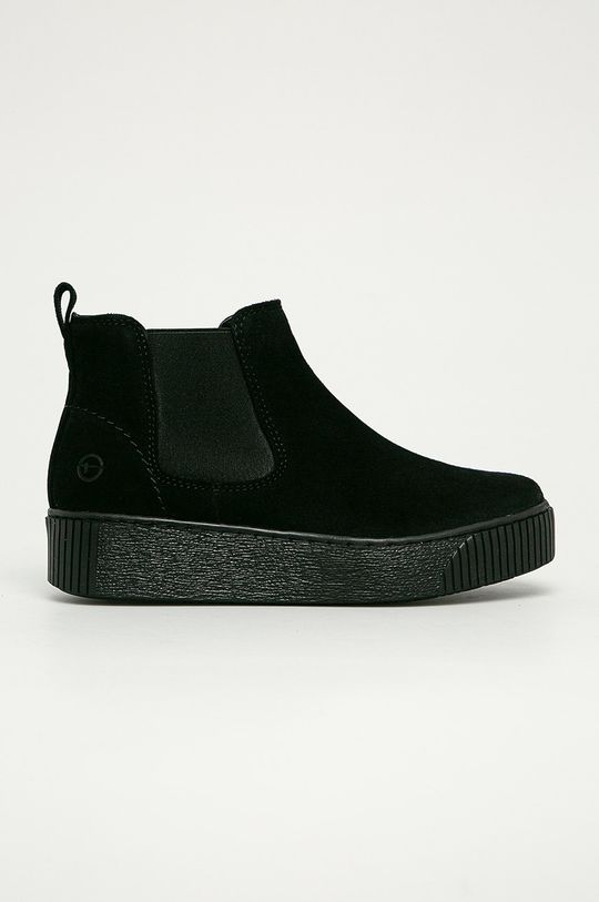 чорний Tamaris - Шкіряні черевики Жіночий