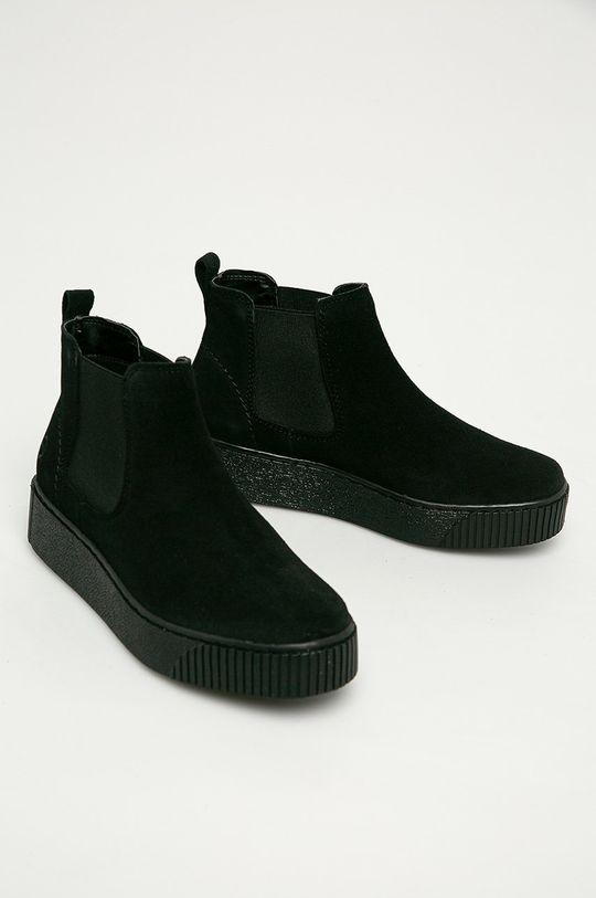 Tamaris - Шкіряні черевики чорний