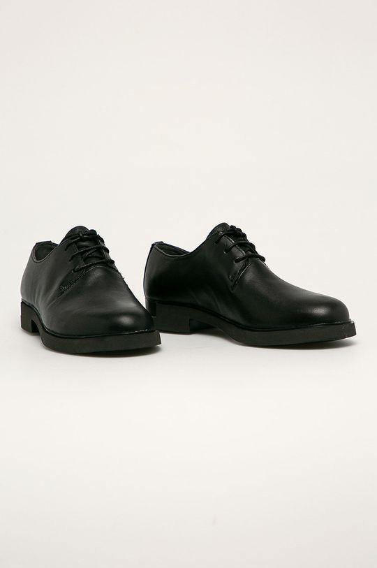 Camper - Pantofi de piele Iman negru