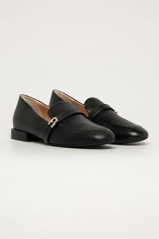 Furla - Mocasini de piele 1927 negru