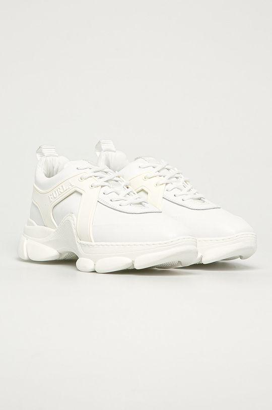 Furla - Kožená obuv Wonder biela