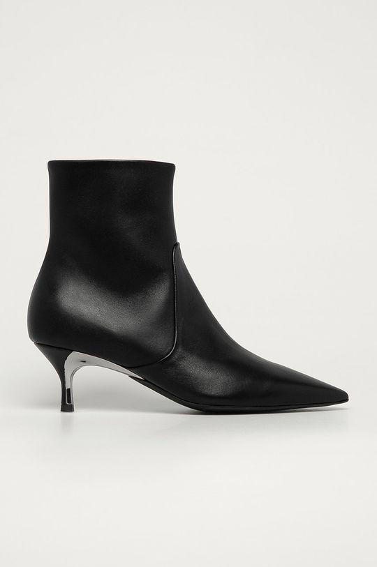 čierna Furla - Kožené členkové topánky Code Dámsky