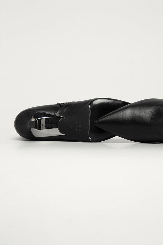 Furla - Kožené členkové topánky Code Dámsky
