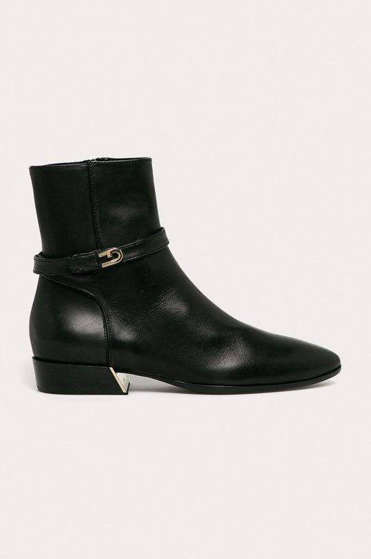 čierna Furla - Kožené členkové topánky Grace Dámsky