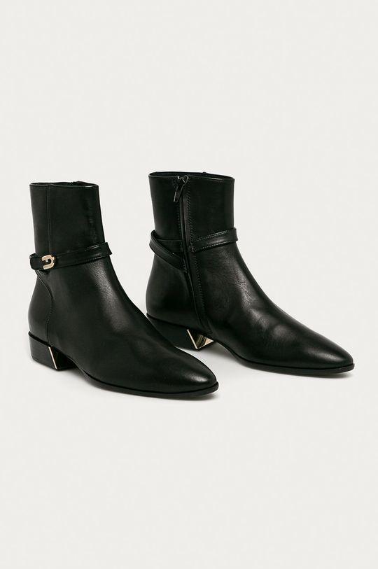 Furla - Kožené členkové topánky Grace čierna