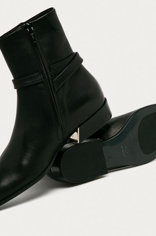 čierna Furla - Kožené členkové topánky Grace