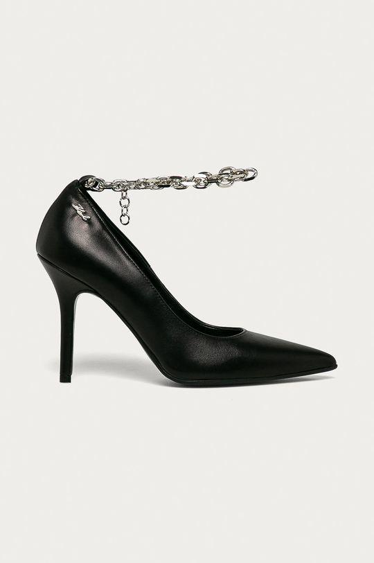 čierna Karl Lagerfeld - Kožené ihličky Dámsky