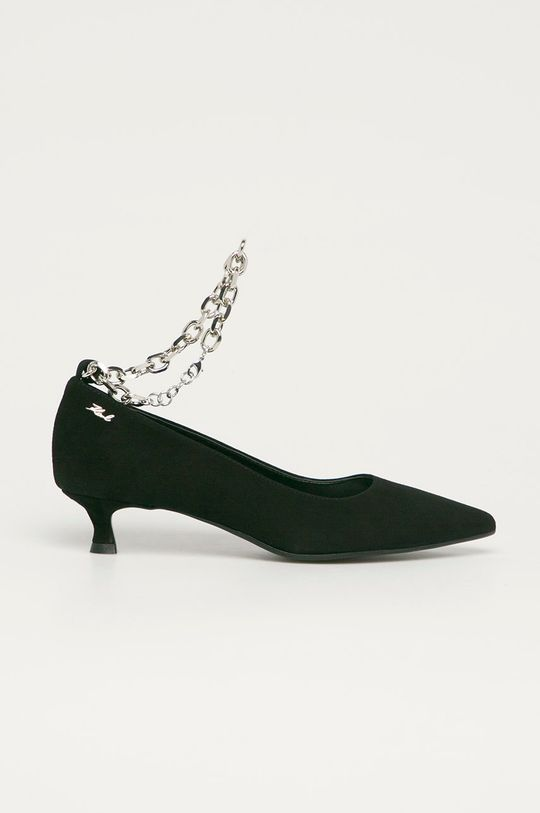 fekete Karl Lagerfeld - Magassarkú cipő velúrból Női