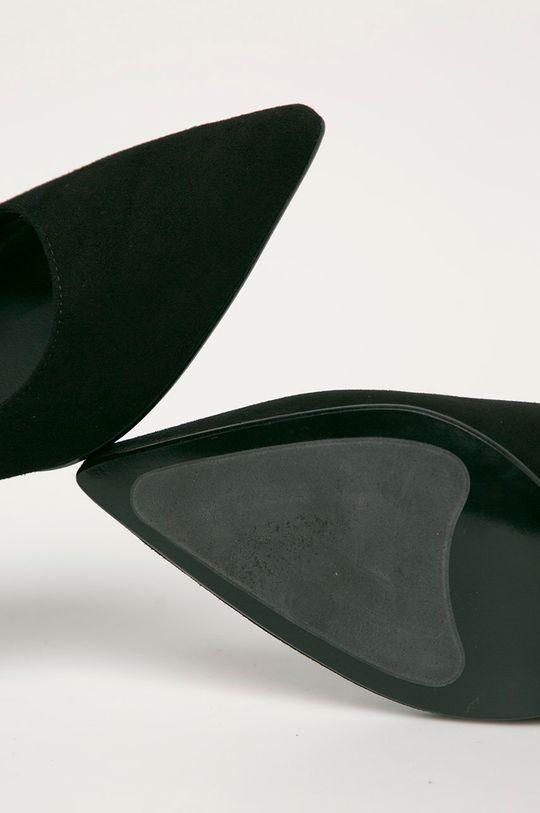 fekete Karl Lagerfeld - Magassarkú cipő velúrból
