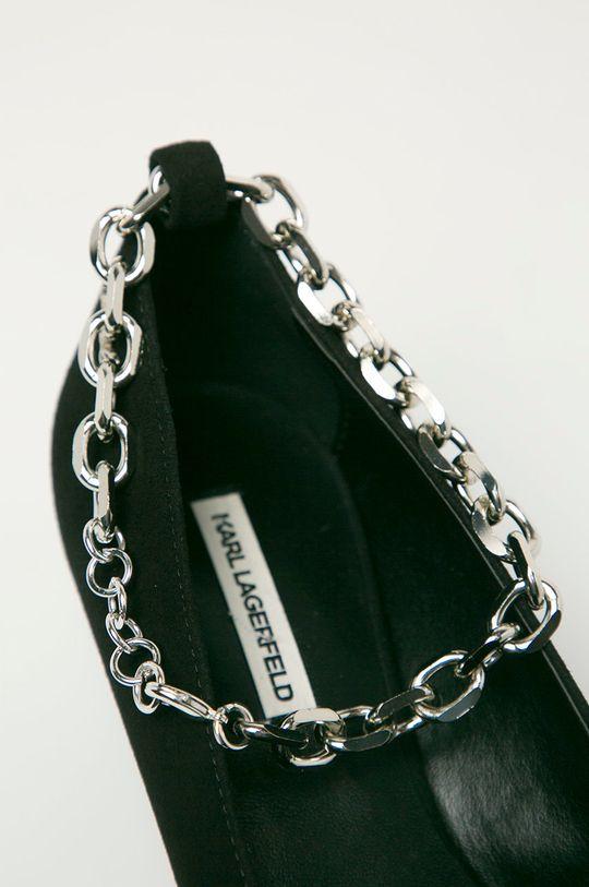 Karl Lagerfeld - Magassarkú cipő velúrból Női