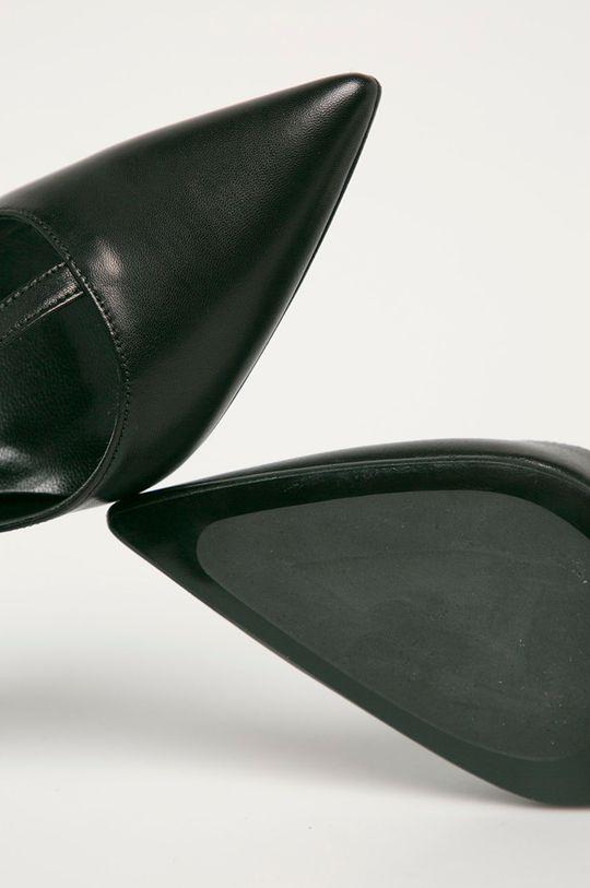 fekete Karl Lagerfeld - Bőr tűsarkú cipő