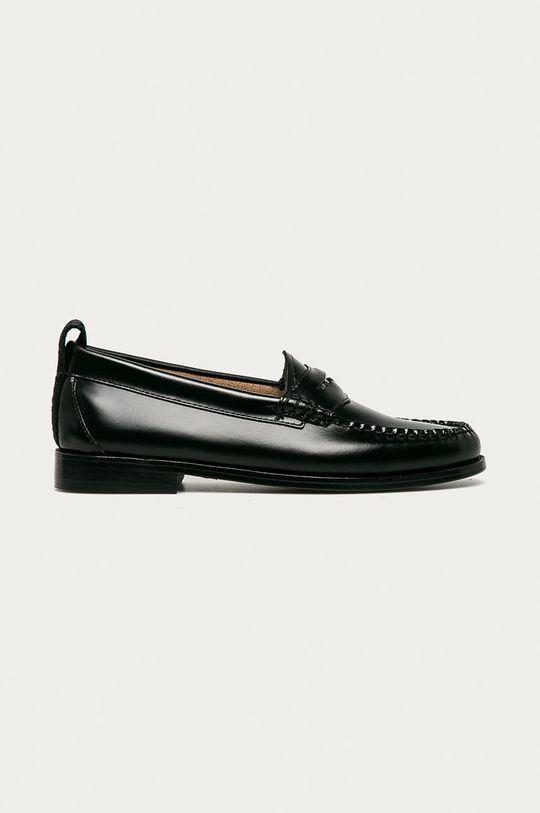 černá Karl Lagerfeld - Kožené mokasíny Dámský
