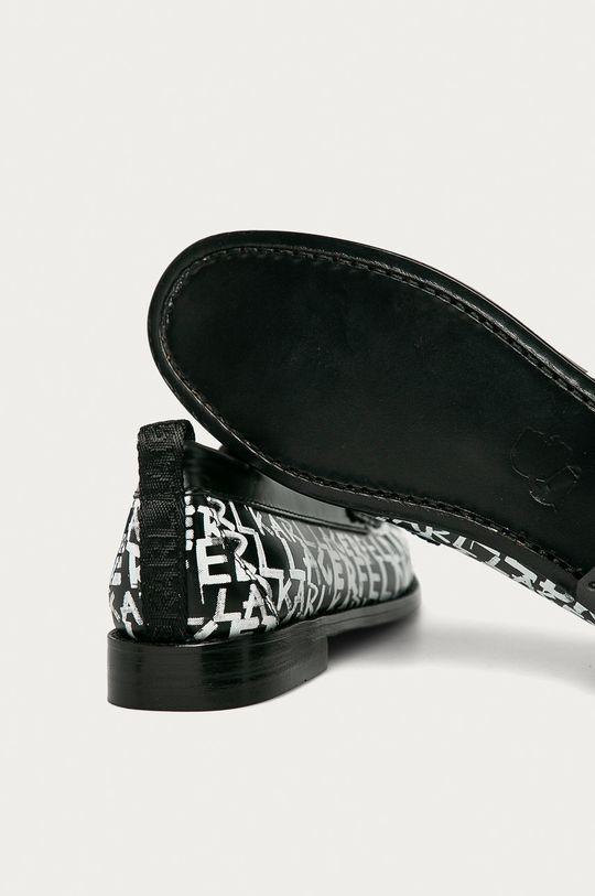 černá Karl Lagerfeld - Kožené mokasíny