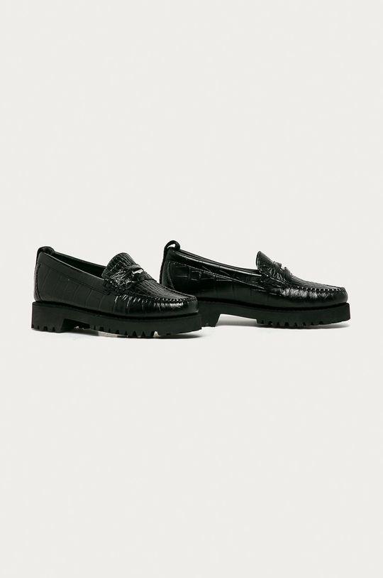 Karl Lagerfeld - Kožené mokasíny černá